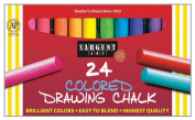 Sargent Art 22-4134 Round Coloured Drawing Chalk, 24 Count