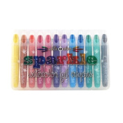 International Arrivals Sparkle Gel Crayons, Set of 12