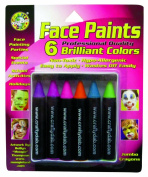 Crafty Dab Face Paint Jumbo Crayons - Brilliant Colours