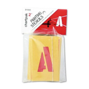 Chartpak 5.1cm Painting Letters and Numbers Stencil, Yellow