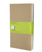 Moleskine Cahier Journal (Set of 3), Large, Plain, Kraft Brown, Soft Cover (5 x 8.25)