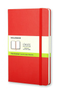 Moleskine Classic Notebook, Large, Plain, Red, Hard Cover (5 x 8.25)