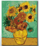 DiyOilPaintings Paint By Numbers Kits, Paint By Number Kits, 50cm x 41cm , Original Oil Painting By Van Gogh, Sunflowers Paint By Numbers Kits Masterpieces
