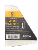 Lineco Self Stick Easel Backs white 13cm . pack of 25 [PACK OF 2 ]
