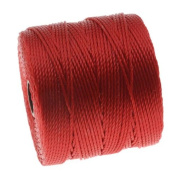 BeadSmith Super-Lon Cord - Size #18 Twisted Nylon - Shanghai Red / 77 Yard Spool