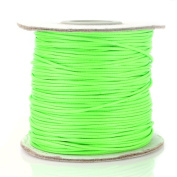Beadnova 1mm Waxed Cotton Beading Cord Waxed String Wax Coating Cord 100 yards Roll Spool - Neon Green Colour