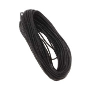 Economy Waxed Cotton Necklace Cord 1.5mm Black 10 Yards