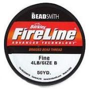 Fireline Braided Beading Thread .006 Inch - Smoke Gray- 50 Yd