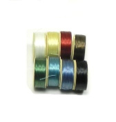 Nymo Nylon Seed Bead Thread Sized (8 Bobins 64 Yards Each) D 0.012 Inch 0.34mm Mixed Colours