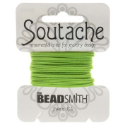 BeadSmith Soutache Braided Cord 3mm Wide - Limelight Green