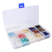 BEADNOVA Natural Chips Gemstone Crystal Pieces Irregular Shaped Loose Beads for Jewellery Making Box Set Value Pack