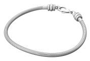 Timeline Treasures Stainless Steel Starter Charm Bracelet Anklet European Style Fits Pandora 20cm