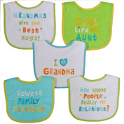 Neat Solutions Neutral Bib Set, Grandma, 5 Count
