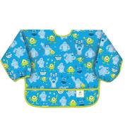 Bumkins Disney Baby Waterproof Sleeved Bib, Monsters Inc. Blue