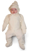 LANACare Organic Merino Wool Hooded Overall, Natural White, size 62