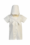 White Sailor Poly-cotton Outfit for Christening Baptism and Special Occasion