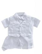 Classykidzshop White Boy Baptism Outfit B1