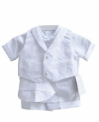 Classykidzshop White Boy Baptism Outfit B6