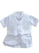 Classykidzshop White Boy Baptism Outfit B4