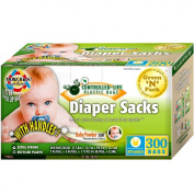 Controlled Life Scented Baby Disposable Nappy Bags (with convenient handle ties), 300-Count