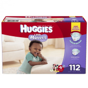 Huggies Little Movers Nappies, Size 4, 112 Count