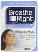 Breathe Right Nasal Strips, Small/Medium, Clear