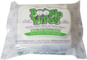 Boogie Wipes Natural Saline Kids and Baby Nose Wipes for Cold and Flu, Unscented, 30 Count