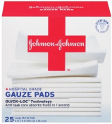 Johnson & Johnson Red Cross Gauze Pads, 10cm x 10cm , 25 Count