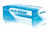 Earloop Face Masks - 50 Fluid Resistant Blue Masks