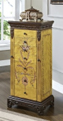 Powell Masterpiece Handpainted Wood Jewellery Armoire, Antiqued Parchment