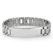 Bling Jewellery Stainless Steel Links Mens ID Bracelet 22cm