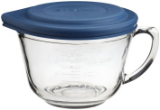 Anchor Hocking Glass Graduated Mixing Bowl With Blue Lid