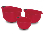 Cuisinart CTG-00-3MBR Set of 3 BPA-free Mixing Bowls, Red