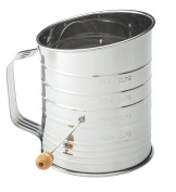 Mrs. Anderson's Baking Hand Crank Flour Icing Sugar Sifter, Stainless Steel, 5-Cup
