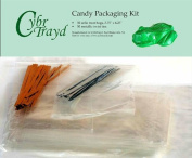 Cybrtrayd MdK50 Chocolate/Candy Packaging Bundle, Includes 50 Treat Bags, 50 Metallic Twist Ties and Copyrighted Chocolate Moulding Instructions from Cybrtrayd