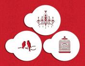 Mini Love Birds/Chandelier Stencil Set by Designer Stencils