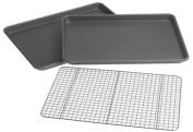 Chicago Metallic Professional 3-Piece Value Pack with 2 Cookie/Jelly Roll Pans and Cooling Grid