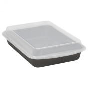 Baker's Secret 1107162 Signature Oblong Cook N' Carry Pan with Plastic Cover