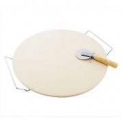 Home Innovations 38cm Ceramic Pizza Stone Set