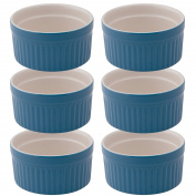 Mrs. Anderson's Baking Souffle, Ceramic Earthenware, Bayberry, Set of 6, 9.5cm , 180ml Capacity