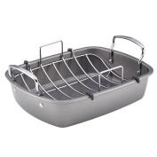 Circulon 56539 Nonstick Bakeware Roaster with Metal Rack, 43cm by 33cm
