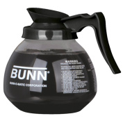 BUNN Coffee Pot Decanter / Carafe Black Regular - New Glass Design Shape - Ergonomic Handle - 12 Cup Capacity -
