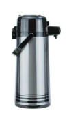 Update International NPD-25-BK/SF Brushed Stainless Steel Airpot with Black Button-Top, 2.5-Litre