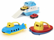 Green Toys Ferry Boat, Submarine & Tug Boat Bath Toys