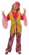 Bristol Novelty Multi Hippy Girl Childrens Costume Girls Medium 7-9 Years