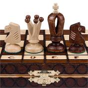 Chess Set - Royal 30 European Wooden Handmade International Chess Set - 28cm - 1.9cm x 28cm - 1.9cm