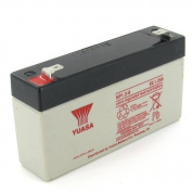 Yuasa NP1.2-6 6V/1.2AH Sealed Lead Acid Battery with F1 Terminal