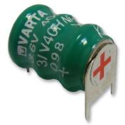 NiMH PCB Mount Memory Protection Battery 3.6V 40mAh
