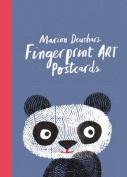 Fingerprint Art Postcards