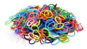 "Colourful Silicone LOOM BANDS - 600 Bands & 25 ""S"" Clips!"
